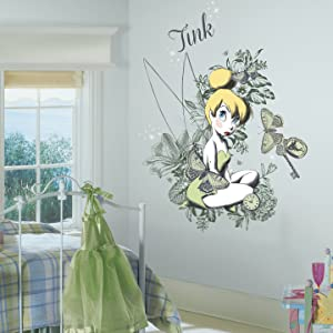 RoomMates Vintage Tinkerbell Mega Peel and Stick Giant Wall Graphix