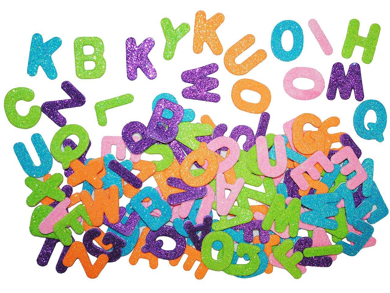 ABC-Alphabet Buchstaben Zahlen Sticker Moosgummi Aufkleber Schultüte Geburtstag