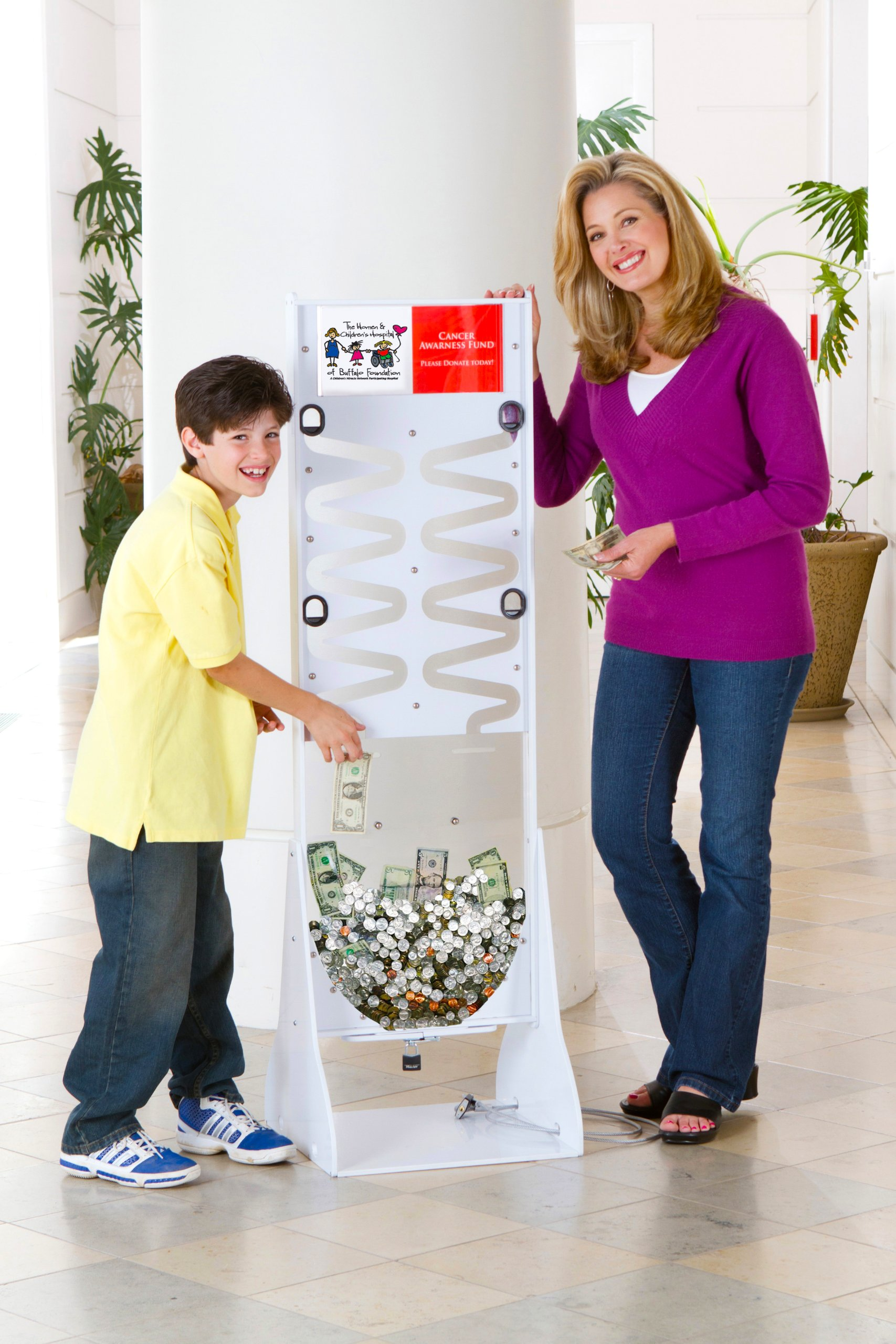 Marketing Holders Dynamic Donation Stand [Black]