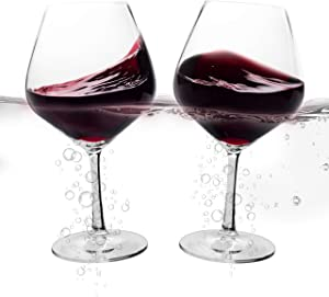 Floating Wine Glasses For The Pool - Set of 2 Shatterproof 21 Oz Plastic Wine Glasses That Float - Versatile Unbreakable Tritan Cups With Stem For Both Indoor and Outdoor Use At The Poolside Or Beach