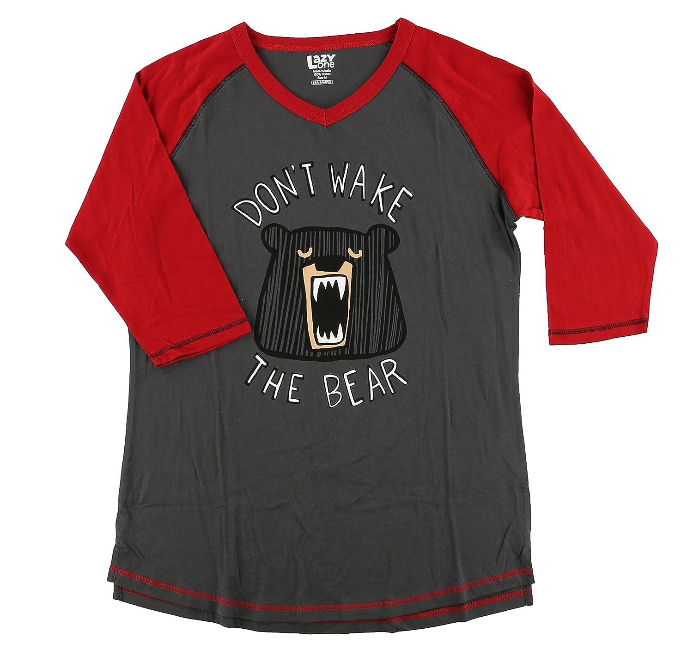 Lazy One Damen Pyjama Top Dont Wake The Bear