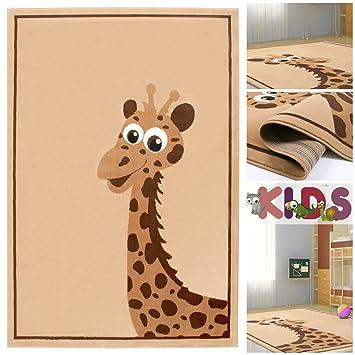 Kinderteppich braun  Amazon.de: Kinderteppich Spielteppich mit niedlicher Giraffe in ...