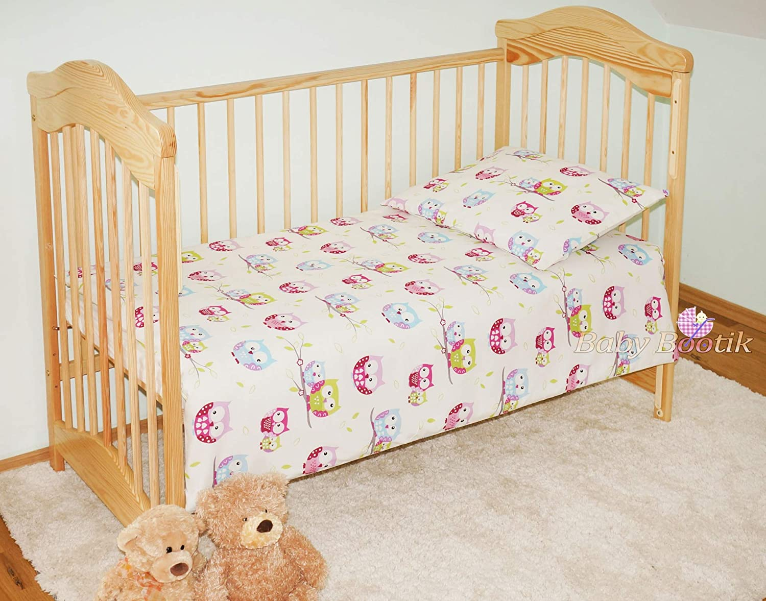 2 Piece Baby Children Quilt Duvet /& Pillow Set 120x90 cm to fit Toddler Cot Bed 23