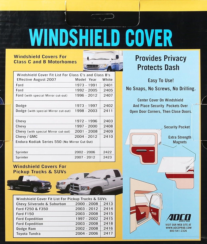 ADCO 2401 Polar White Windshield Cover