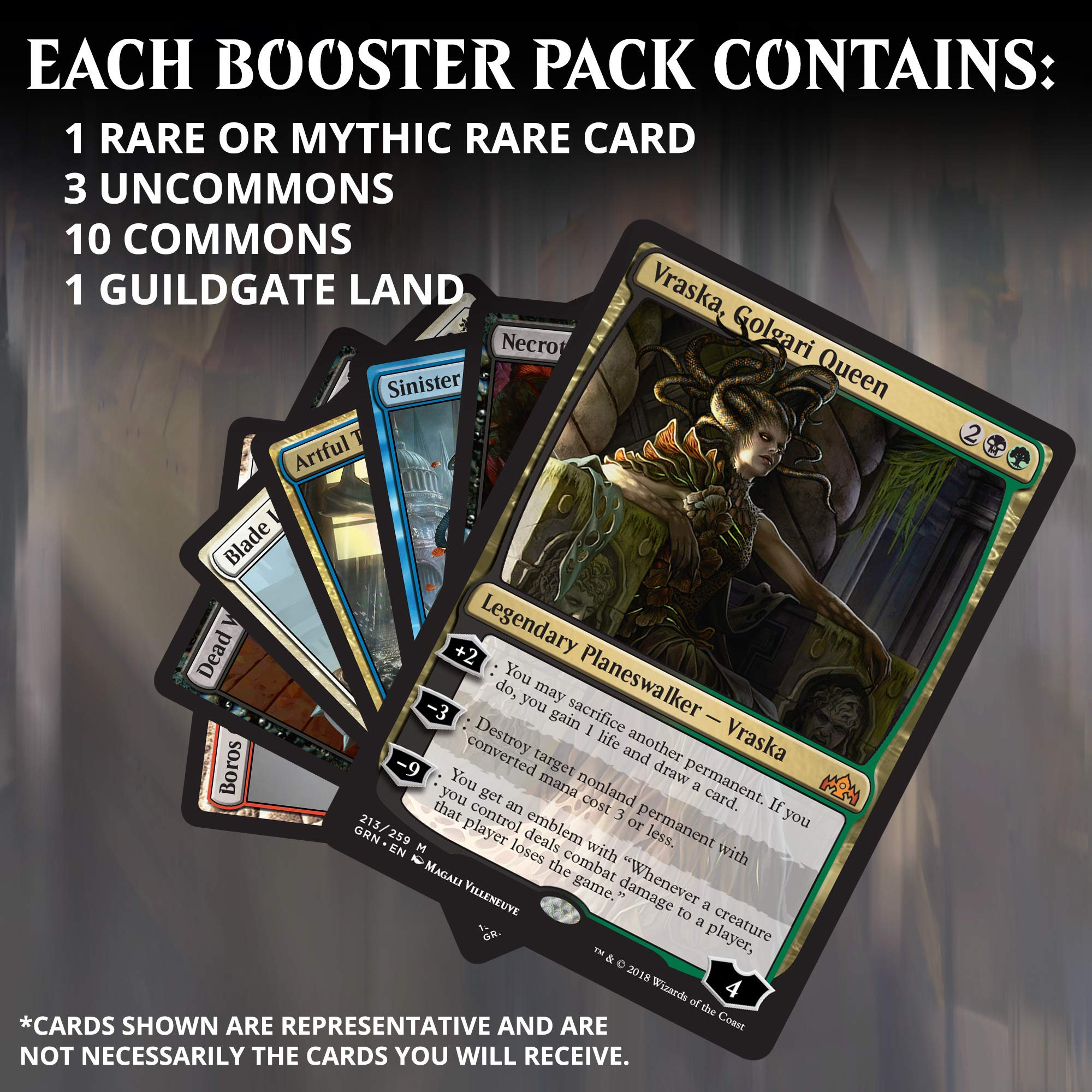 Magic: The Gathering Guilds of Ravnica Bundle | 10 Booster Packs + Land Cards (230 Cards) | Accessories | New Set by Magic: The Gathering (Image #4)