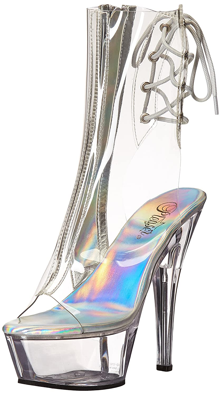 Pleaser Women's Kiss1018c/c/m Boot B014J24HNU 8 B(M) US|Clear/Clear
