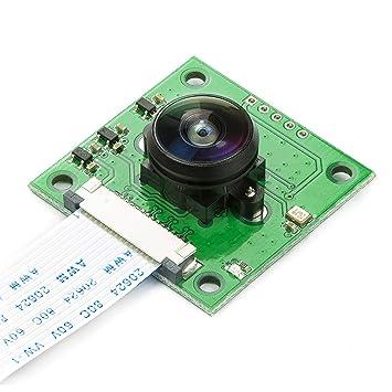 Arducam OV5647 Camera Board with LS-40180 Fisheye Lens M12x0 5 Mount for  Raspberry Pi 3,3b+