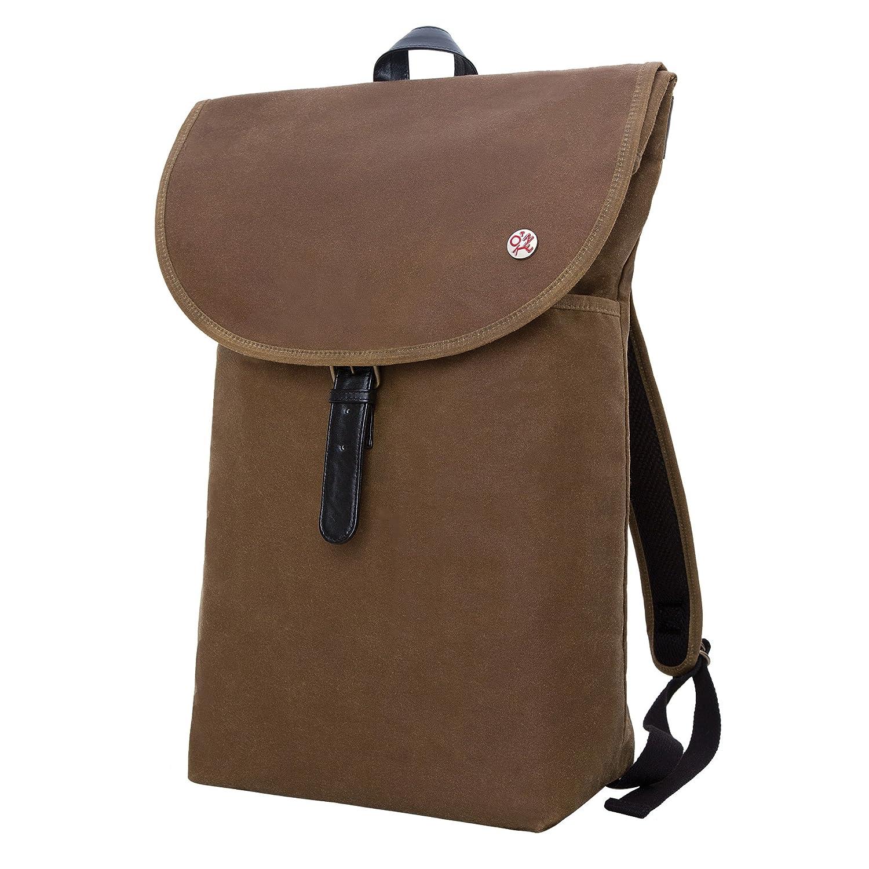 Field Tan One Size Token Bags Bergen Waxed Backpack, Black, One Size