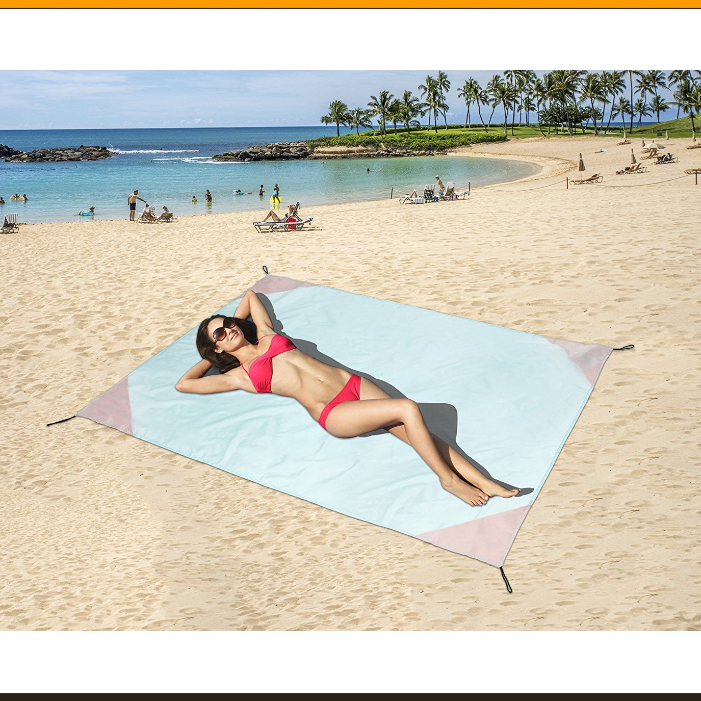 Family Beach Blanket: ZOMAKE LIGHTWEIGHT Large Camping Beach Blanket Sand Proof