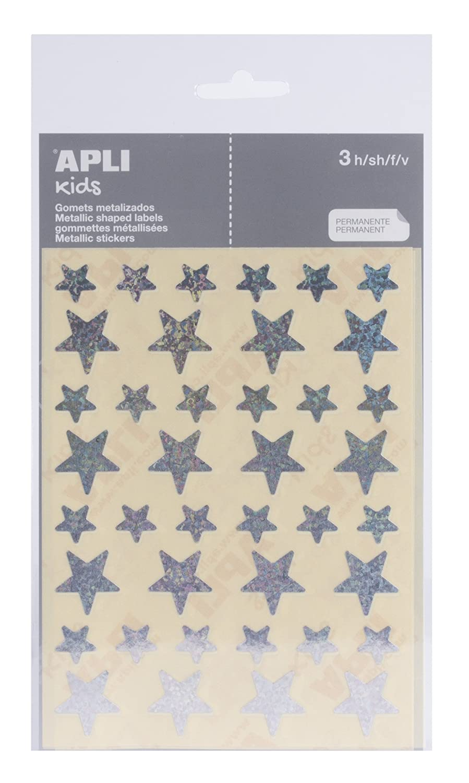 APLI - Bolsa de pegatinas redondas 20 mm, color oro 3 hojas 11808 10004705