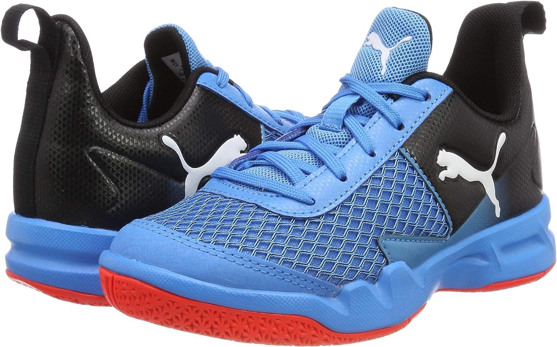 Puma Rise XT 4 Jr Zapatillas de deporte interior Unisex Niños, Azul (Bleu Azur-Red Blast-Puma Black), 35 EU (2.5 UK): Amazon.es: Zapatos y complementos