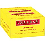 Larabar Gluten Free Bar, Lemon, Whole Food, Dairy Free Snacks, 1.6 Ounce (Pack of 16)