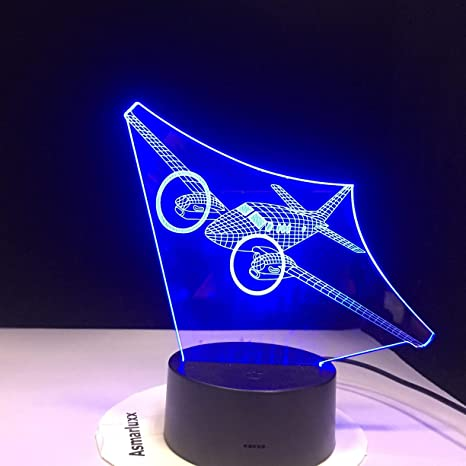 GX7 Air plane Shape LED Acrylic Small Night Lamp Regalos de ...