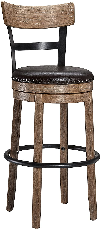 Ball & Cast Swivel Barstool - Counter Height - Light Brown Huasen Furniture HSA-1001B