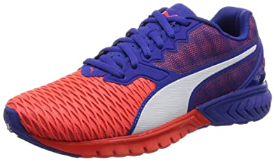 763a592dcd Puma Women s Ignite Dual WN s Red Blast and Royal Blue Running Shoes - 4 UK