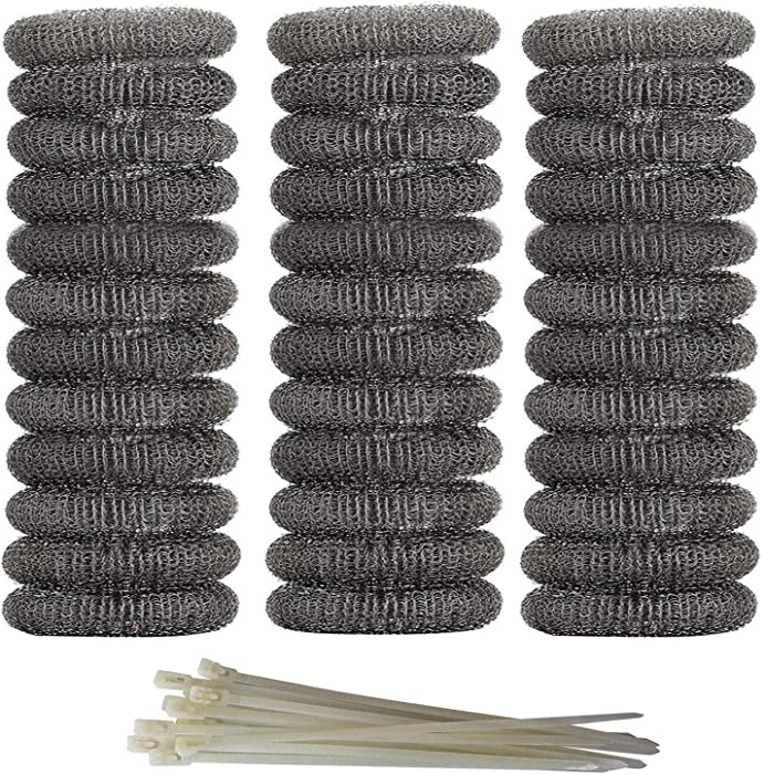 Axe Sickle 36 Pieces Washing Machine Lint Traps Snare Laundry Mesh Washer Hose Filter with 36 Pieces Cable Ties.