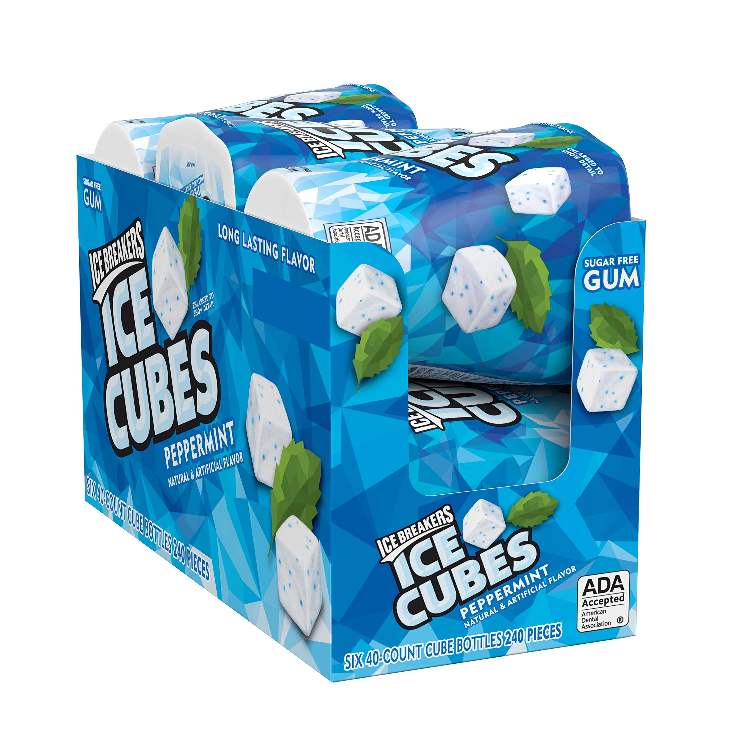 ICE BREAKERS ICE CUBES Peppermint Flavored Sugar Free Chewing Gum