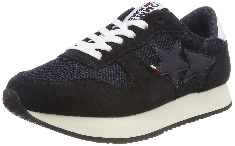 Tommy Jeans Hilfiger Denim Star Sneaker, Sneakers Basses Femme, Bleu (Midnight 403), 38 EU