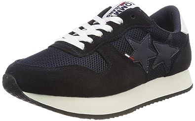 57ec141047a8 Hilfiger Denim Damen Tommy Jeans Star Sneaker, Blau (Midnight 403), 36 EU