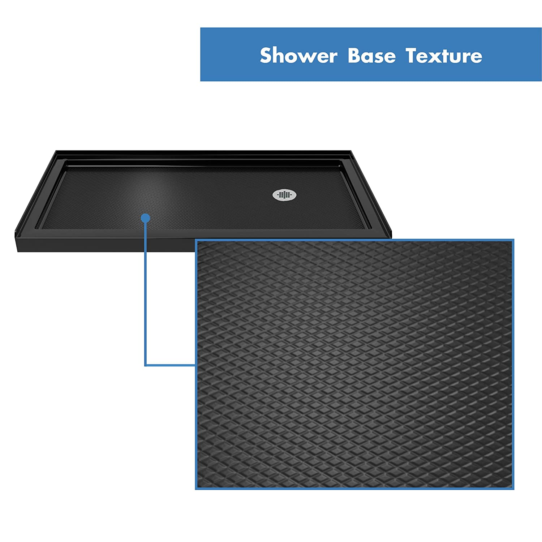 DLT-1130601-22 D x 60 in W x 2 3//4 in DreamLine SlimLine 30 in H Left Drain Single Threshold Shower Base in Biscuit