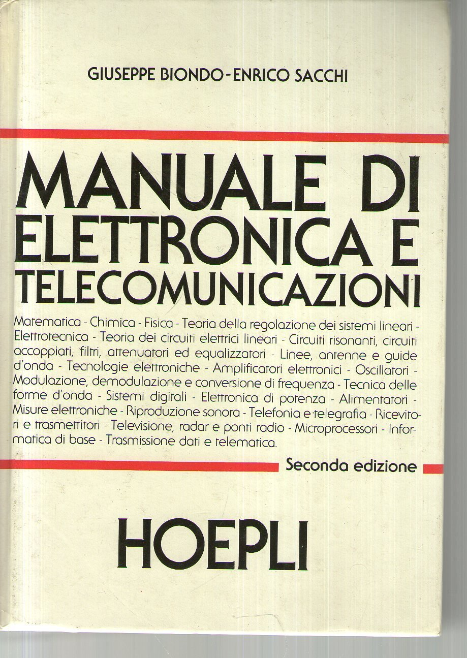 amazon it manuale di elettronica e telecomunicazioni giuseppe rh amazon it  manuale di elettronica e telecomunicazioni hoepli usato