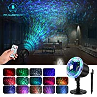 Amazon.com deals on Kingwill Waterproof LED Projector Lamp with 3D Water Effect