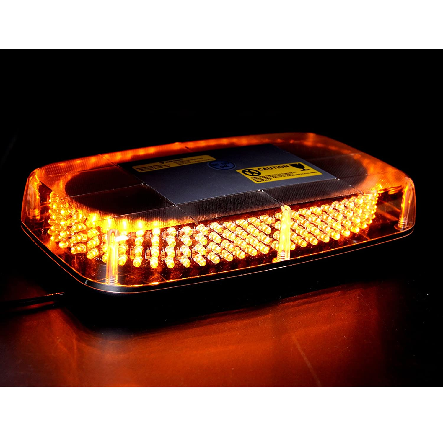 Aurelio Tech LEPAZA66044 TCBunny 240 LED Light Bar Roof Top Emergency Hazard Warning Flash Strobe Yellow Amber