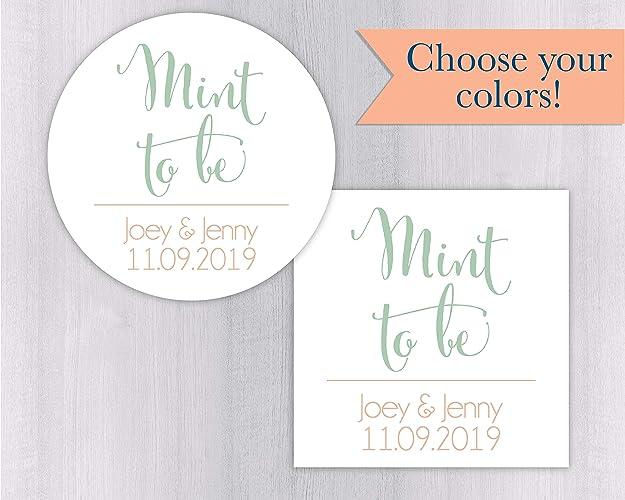 Amazon Mint To Be Wedding Favor Sticker Wedding Stickers