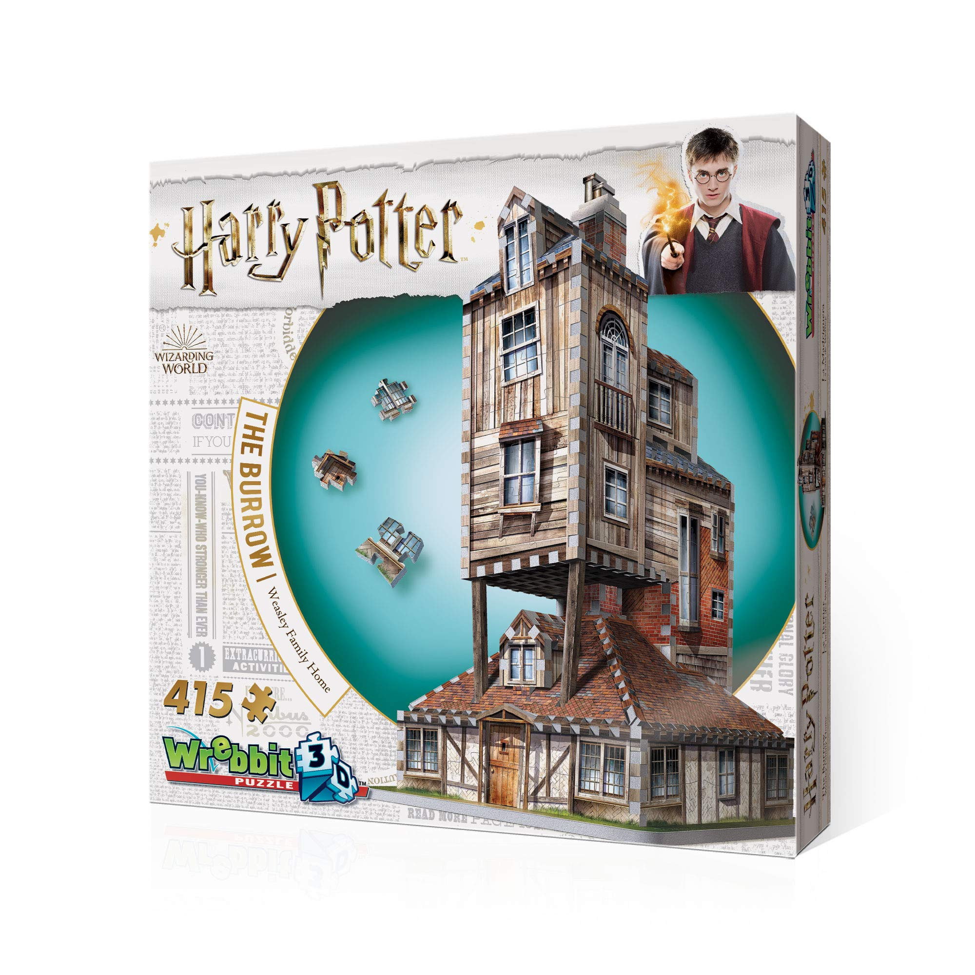 WREBBIT 3D - Harry Potter The Burrow Weasley Family Home 3D Jigsaw Puzzle - 415Piece by WREBBIT 3D