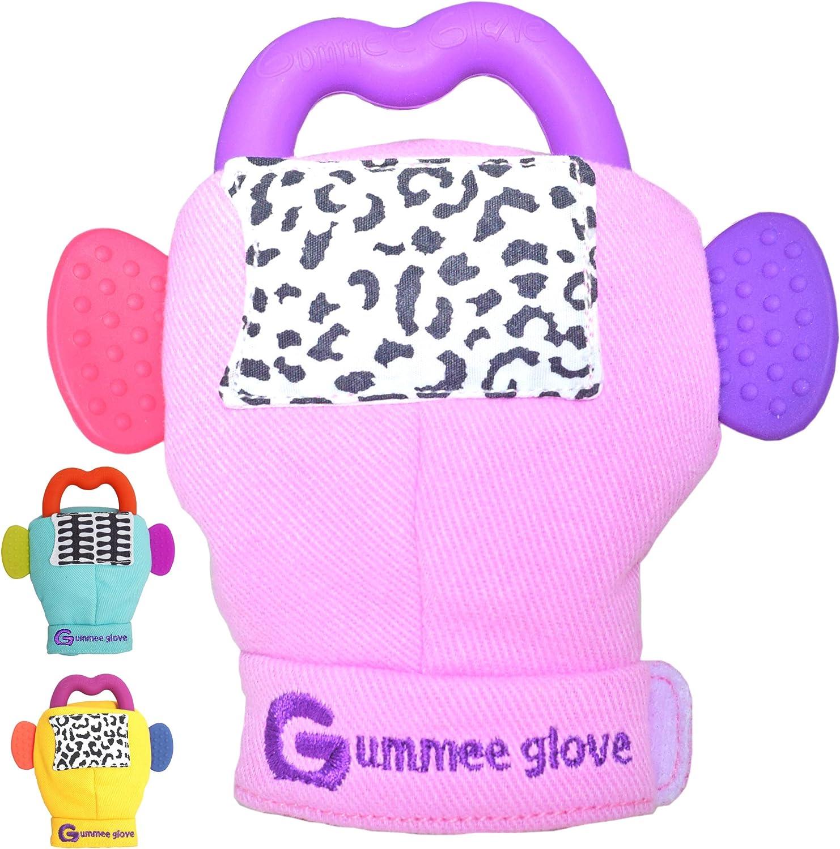 Pink Gummee Glove Teething Mitten