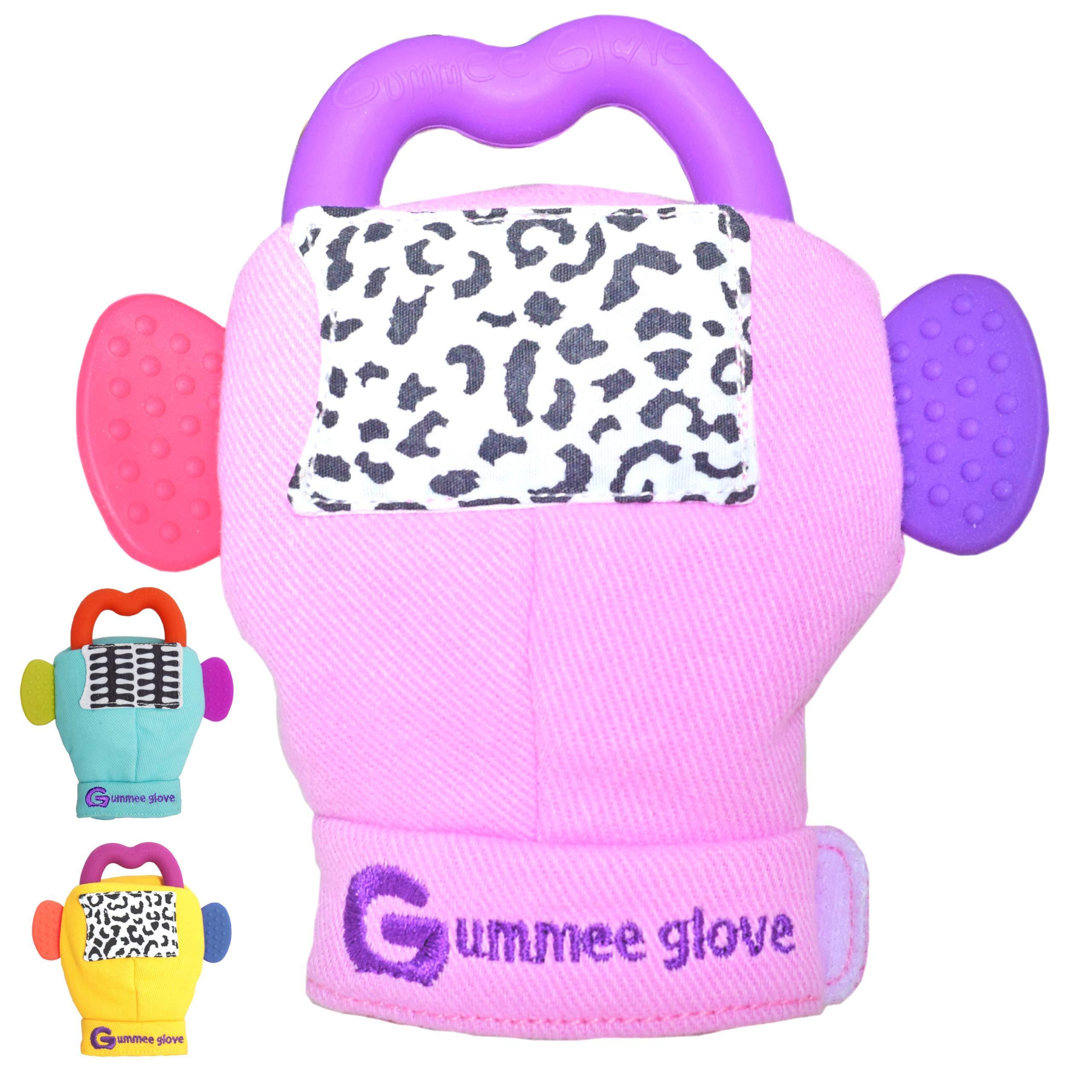 Pink Original Gummee Glove Baby Teething Mitten Toy /& Ring 3 Months