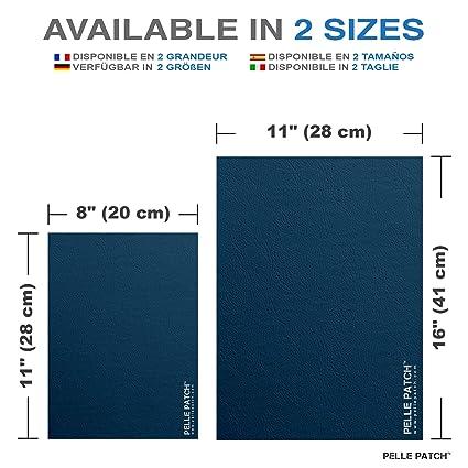 Pelle Patch - Parche Adhesivo de reparación para Cuero y Vinilo - Disponible en 25 Colores - Original 20cm x 28cm - Negro