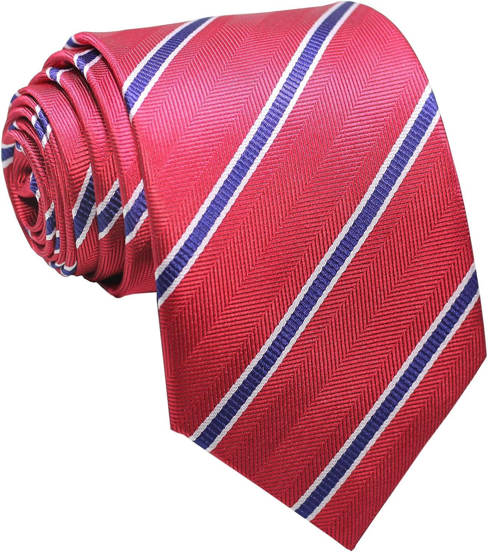 red orange Vintage striped El Cid necktie  60s Dacron /& Acetate fashion  beige
