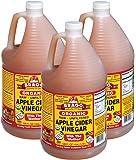 Bragg Organic Raw Apple Cider Vinegar KJvTP, 3Pack (1 Gallon)