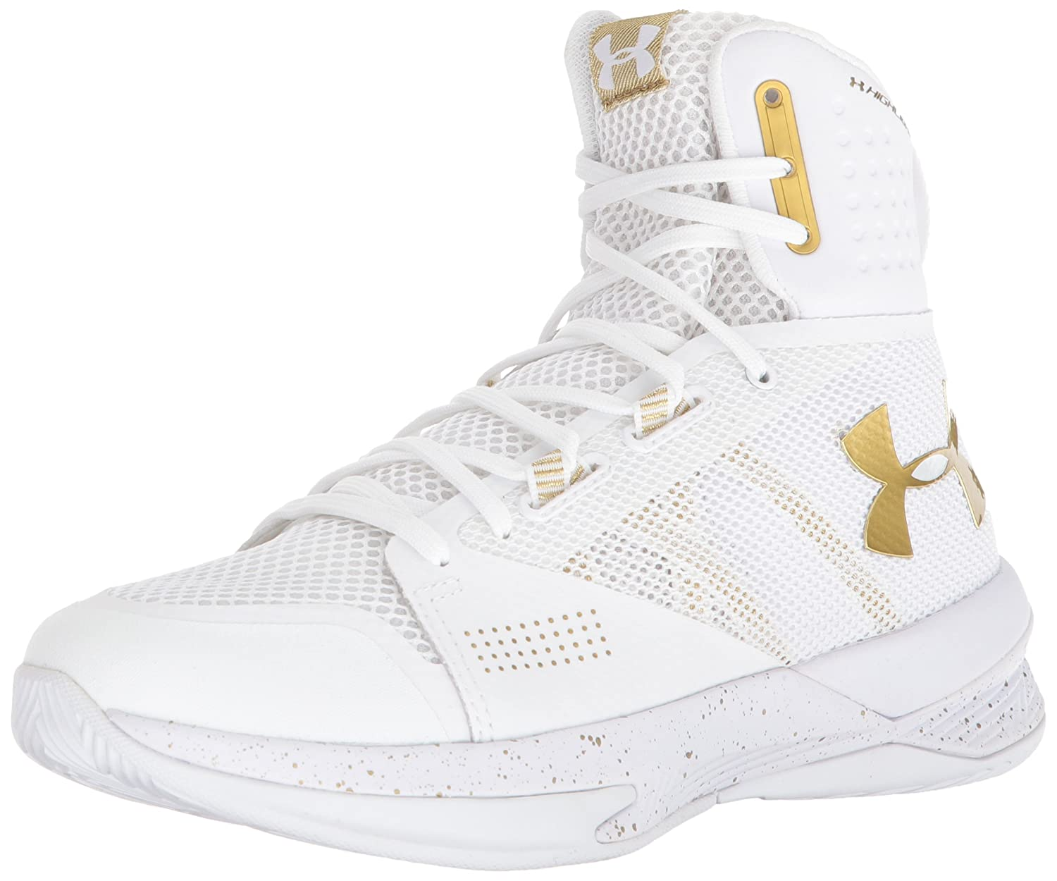 [アンダーアーマー] Women's Highlight Ace Volleyball Shoe [並行輸入品] B0723B36ZP White-metallic Gold 8 B(M) US 8 B(M) US|White-metallic Gold