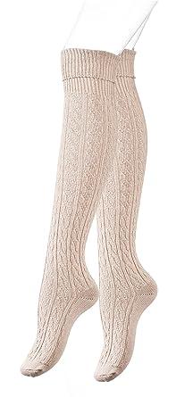 Calcetines largos por encima de la rodilla para mujer: Amazon.es: Ropa y accesorios