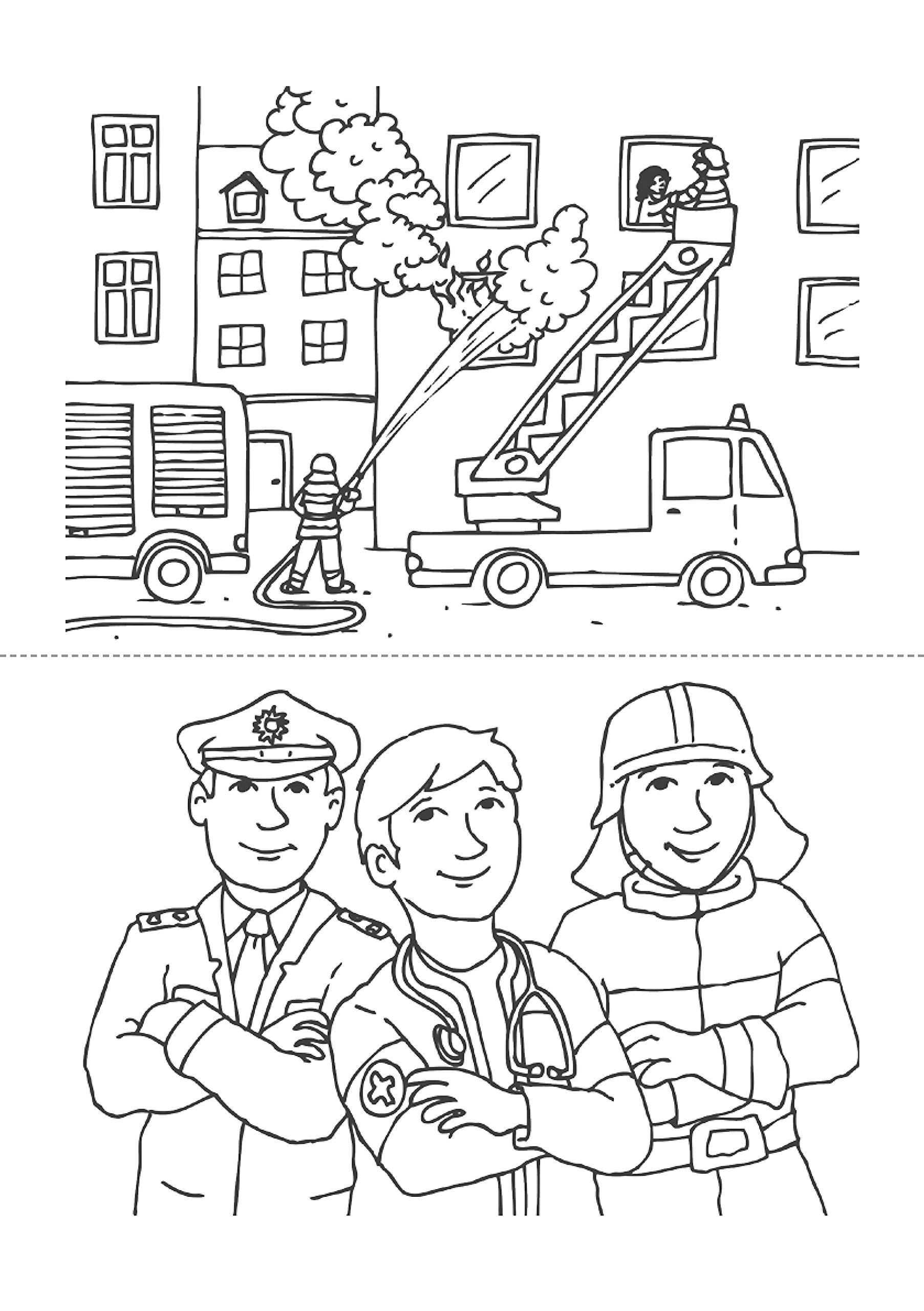 Malblock - Notarzt, Polizei und Feuerwehr Malblöcke, Band 603 ...