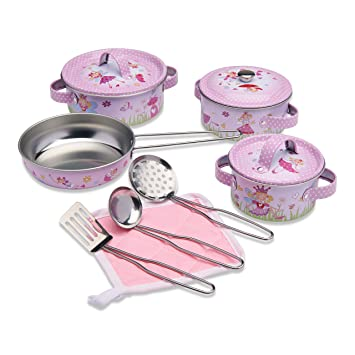 Kids Kitchen Accessories >> Wobbly Jelly Fairy Tale Kids Kitchen Set 11 Pc Toy Pots And Pans Set For Kids Toy Kitchen Accessories
