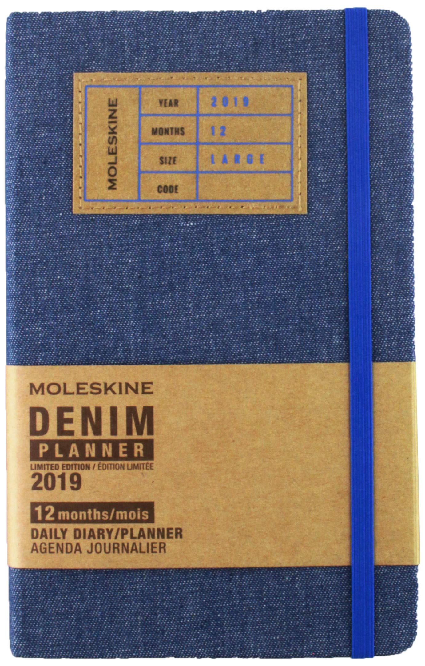 Moleskine Denim Blue Large Daily 2019 Diary/Planner ...