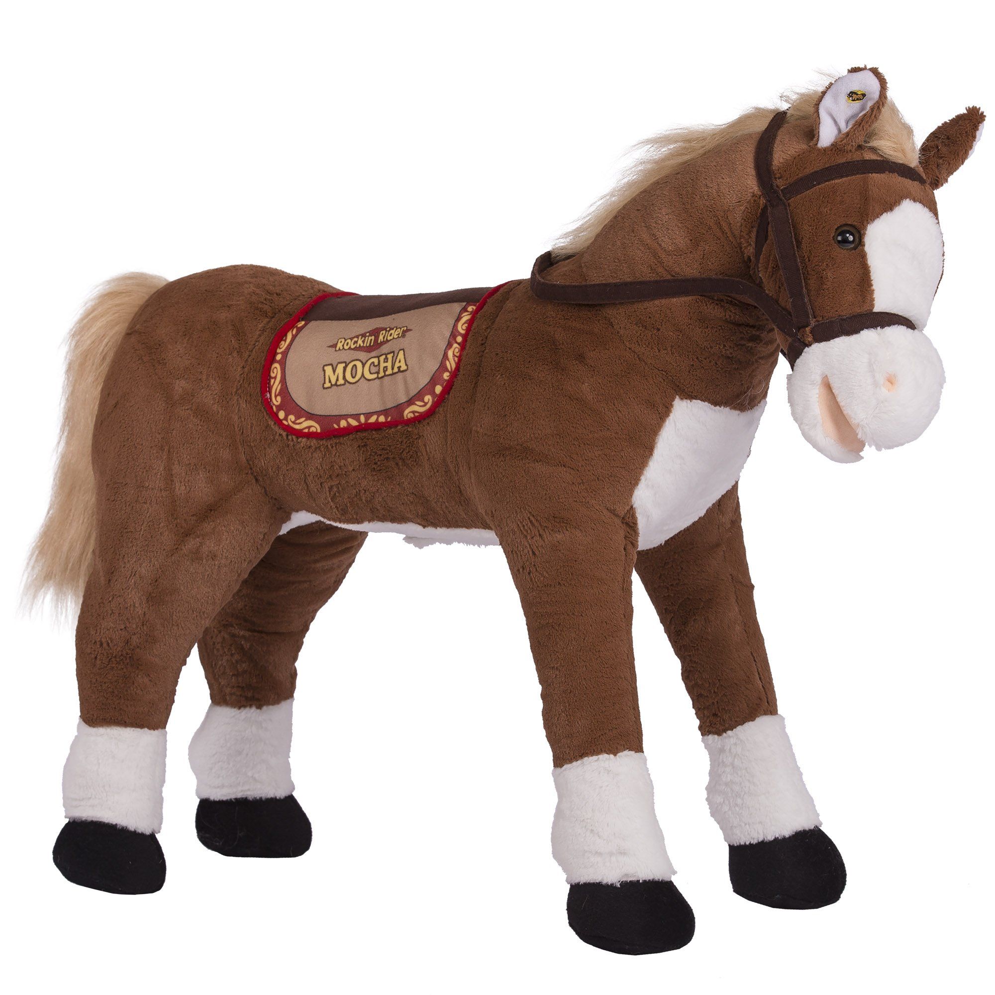 Rockin' Rider Mocha Stable Horse Plush, Brown