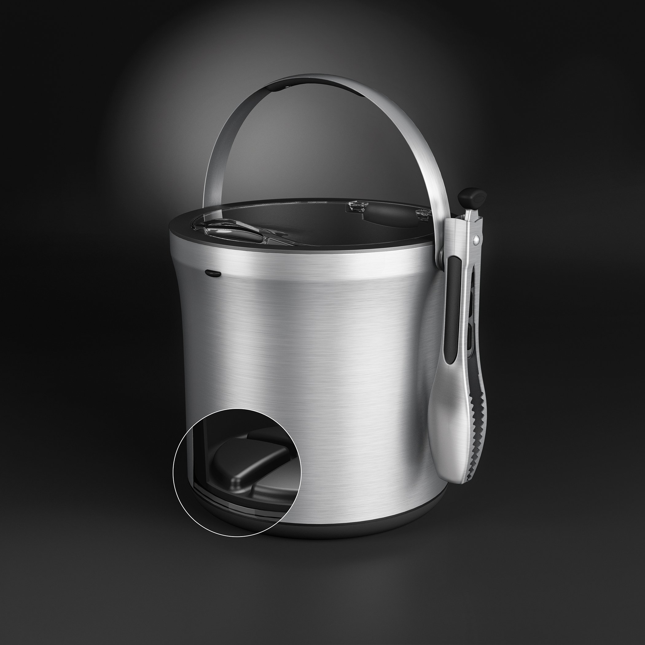 Oxo Steel Ice Bucket And Tongs Set Gastrocoach