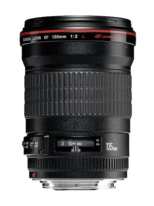 Canon EF 135mm f/2L USM - Objetivo para Canon (Distancia Focal Fija 135mm, Apertura f/2-32, diámetro: 72mm) Negro