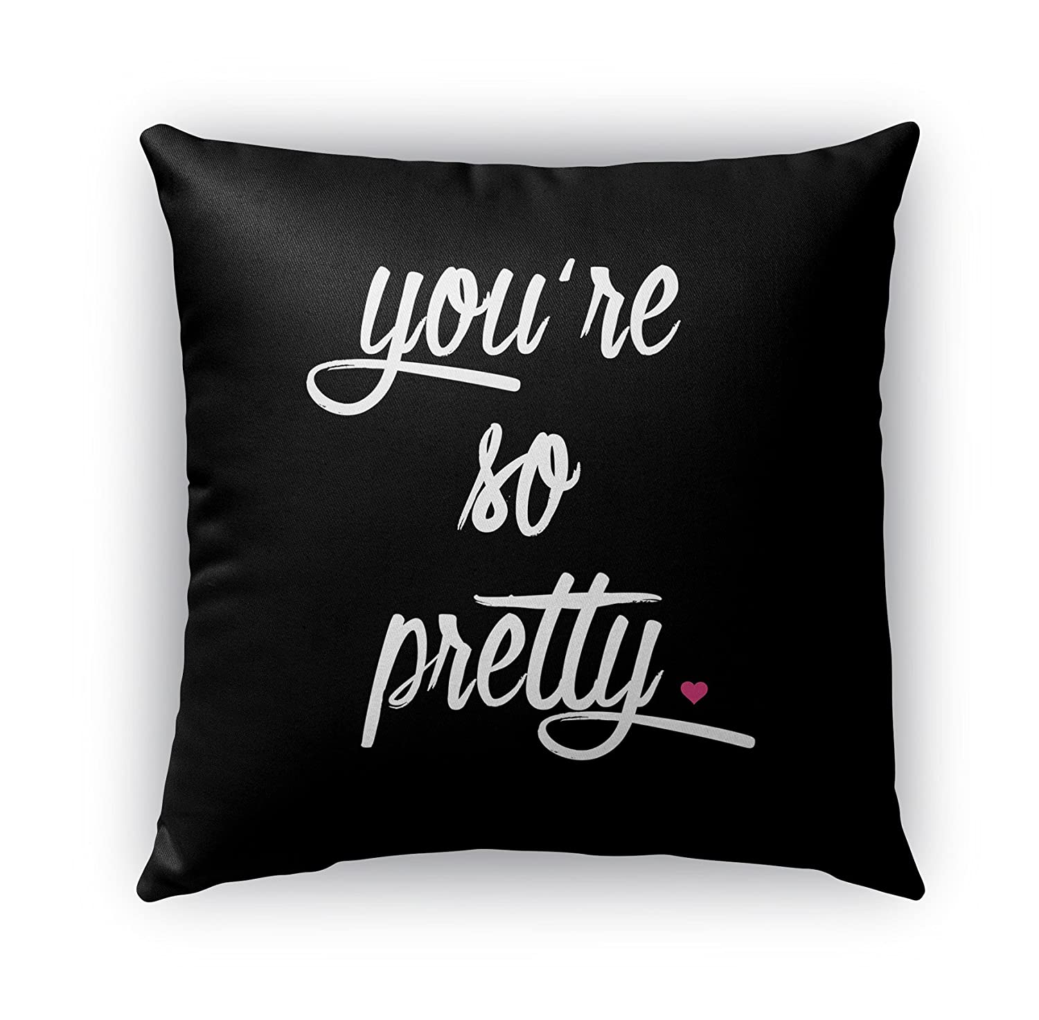 KAVKA Designs You're So Pretty Indoor-Outdoor Pillow, (Pink) - TRADITIONS Collection, Size: 16X16X6 - (SCRAVC3006OP16)