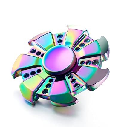 Metal Fidget Spinner With Stainless Steel Bearing For Focusing
