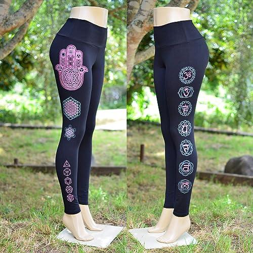 83158482187593 Amazon.com: Hamsa Hand Chakra Fitness Leggings - Sacred Geometry ...
