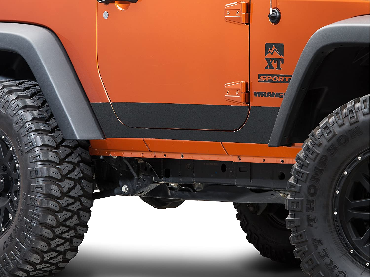 Amazon com barricade j100715 jk bodyshield rocker panel decal textured black automotive