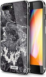 ZIZO Refine Series for iPhone 7 Plus Case | Ultra Slim Thin Case for iPhone 8 Plus (Black Marble)