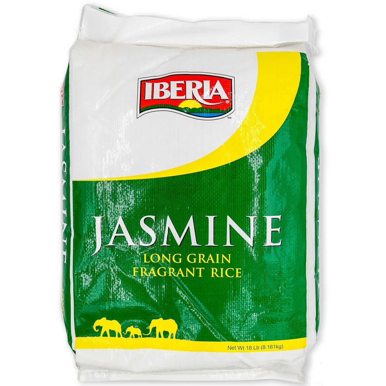 Iberia Jasmine Long Grain Fragrant Rice 18 Pounds Jasmine Rice 18lb, 288 Ounce