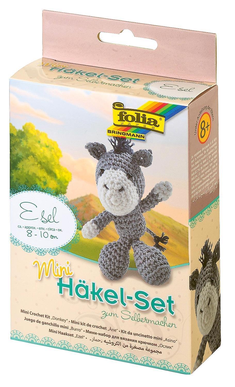 Komplett Folia Häkel Set Affe Ca 11 13cm Groß Mit Anleitung