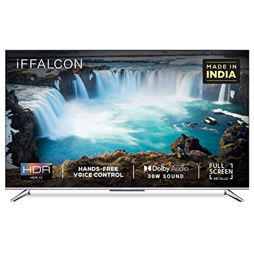 iFFALCON 139 cm (55 inches) 4K Ultra HD Smart Certified Android LED TV 55K71 (Sliver) (2021 Model)| With Voice Control